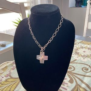 Silpada  925 Sterling Silver Toggle Cross Necklace